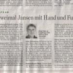 12. März 2011 – Hamburger Abendblatt