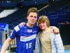 SportXperte Hendrik stolz mit Rechtsaußen Hans Lindberg, dem Bundesligatorschützenkönig 2009/2010.